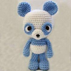 Passions Ephémères: Panda Bleu - Patron Gratuit et en Français