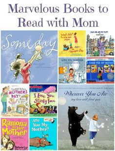 Wonderful books to read with Mom or give as a gift for Mother's Day + more great gift & activity ideas!