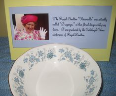 """My Royal Doulton china with the hand-painted periwinkles"""