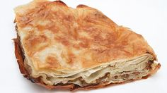 Burek - Meat #Traditional #Macedonian #Recipe - Ingredients 2 pounds ground beef chuck 1 pound ground pork 3 large finely chopped onions Salt and pepper to taste 3 large beaten eggs 3 large beaten egg yolks 1 (1-pound) package thawed filo dough Vegetable, sunflower or pumpkin oil