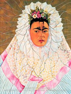 Frida Kahlo Diego in My Thoughts Painting Reproduction Art On Canvas