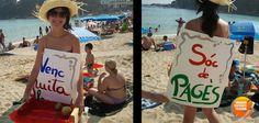 También se puede ser creativo en la playa.