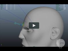 In this video I explore the idea of using NURBS surfaces to simulate the existence of a skull under the skin.  This is a joint driven face rig done in Autodesk Maya…