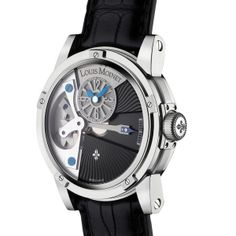 Louis Moinet Mecanograph     This Calibre LM31 movement watch features an original design with a six-screw bezel.  Engraved with an individual number and Louis Moinet symbols, the Mecanograph the grade 5 titanium case features both polished and matte finishing. Price: $14,500
