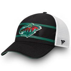 release date: 3482d 1fa8a Men s Minnesota Wild Fanatics Branded Black White Authentic Pro Second  Season Trucker Adjustable Hat, Your Price   27.99