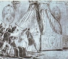 The bedroom of Marie Antoinette at the Tuileries on August 10th, 1792.