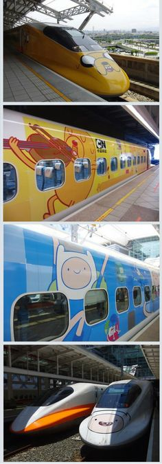 Adventure Time trains, Taiwan (via Reddit http://www.reddit.com/r/adventuretime/comments/1jfmx0/adventure_time_trains_taiwan/)