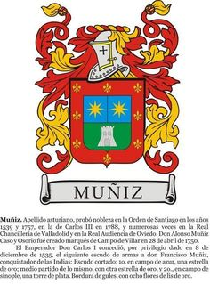 Muniz Family Crest, jewelry, rings, pendants and cufflinks. Family Shield, Armadura Medieval, Banner, Family Crest, Crests, Coat Of Arms, Symbols, Cufflinks, Pendants