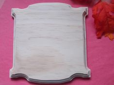 Items similar to Old Large Fancy Square Unfinished DIY Wood Plaque on Etsy Unfinished Wood Plaques, Hand Router, Diy Cutting Board, Wooden Cutouts, Little Fish, Wooden Decor, Scroll Saw, Types Of Wood, Signs