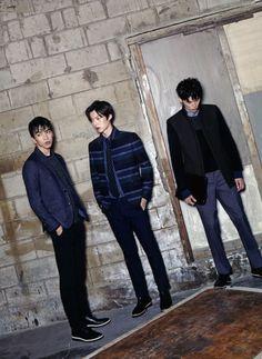 Kim Won Jung, Ahn Jae Hyeon, Do Sang Woo for Arena Korea Sept 2014