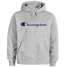 This hoodies is Made To Order, we print the hoodie one by one so we can control the quality.We use DTG Technology to print on to Hoodies. Grey Champion Sweatshirt, Champion Hoodie Women, Champion Jacket, Trendy Hoodies, Boys Hoodies, Mens Sweatshirts, Trendy Outfits, Cute Outfits, Champion Clothing