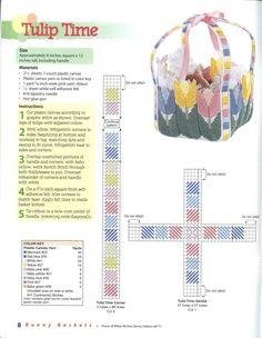 BUNNY BASKETS - PAGE 8 - TULIP TIME BASKET 1/2