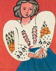 Matisse The Romanian Blouse oil painting reproduction on canvas