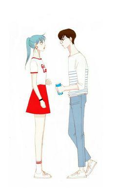 Mint and Blue Spirit Fingers Webtoon, Blue Fingers, Manga Love, Picts, Green Fashion, Character Illustration, Manhwa, My Idol, Anime Art