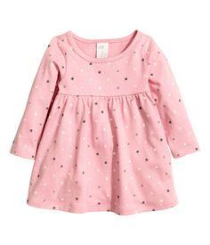 Vestido de punto   Rosa claro/lunares   Niños   H&M MX