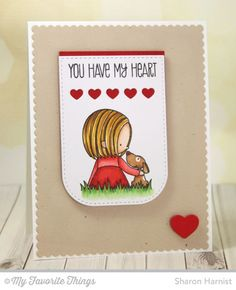 You Have My Heart, All My Love Die-namics, Tag Builder Blueprints 3 Die-namics - Sharon Harnist #mftstamps