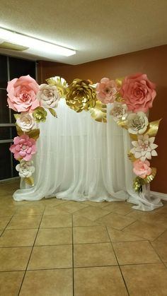 Paper flowers backdrop backdrop paper flowers wedding pinterest photo booth backdrop mightylinksfo