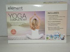 Brand New Element Yoga Complete Kit 3 DVD Yoga Basics with Bonus Power Yoga Best Yoga Dvd, Increase Flexibility, Basic Yoga, Guided Meditation, Yoga For Beginners, Stress, Kit, Ebay, Yoga For Complete Beginners