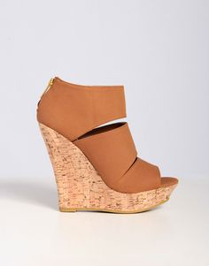 Sleek Triple Bar Cork Wedge