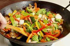 TODAS LAS RECETAS : Chop Suey vegetariano con fideos