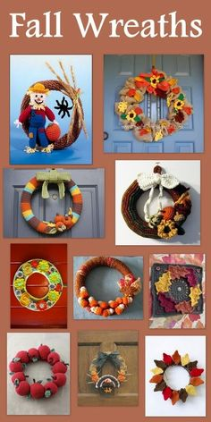 Posh Pooch Designs Dog Clothes: Fall Wreaths To Warm Your Door - Tuesday's Treasury of Crochet Patterns