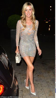 Nicky Hilton in her reception dress