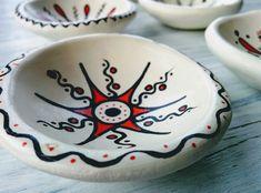 Handmade Clay Decor HandPainted Deco Plates Decorative Clay Pots, Hand Painted, Tableware, Handmade, Dinnerware, Hand Made, Tablewares, Dishes, Place Settings