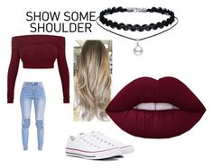 Show Some Shoulder by ellaboo0473-1 on Polyvore featuring polyvore fashion style Converse clothing