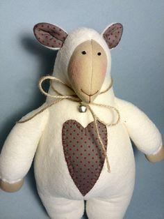 Soft Tilda doll White Sheep Toy sheep Wool par HandmadeToyStore