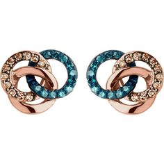 Links Of London Treasured 18ct rose-gold vermeil and diamond stud... ($320) ❤ liked on Polyvore featuring jewelry, earrings, accessories, diamond jewellery, butterfly stud earrings, rose diamond earrings, rose jewellery and monarch butterfly earrings