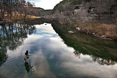 The river best known for its summertime activities also is the southenmost trout fishery in the United States. (Photos by J. Griffis Smith)