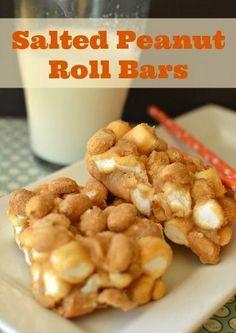 Salted Peanut Roll Bars
