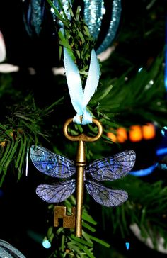 'Harry Potter Sorcerer's Stone Winged Key Themed Ornament' by Christalinasales