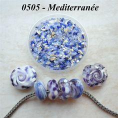 0505 Mediterranean  Glass Frit Blend  K1  COE by BeadTreasures4You