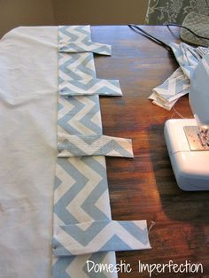 how to make back tab curtains