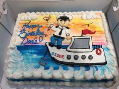 Birthday sailing cake