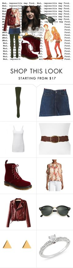 """""""Amelia Pond. It sounds like something from a fairy tale!"""" by goldennsky ❤ liked on Polyvore featuring Le Bourget, Sessùn, SONOMA Goods for Life, Dr. Martens, Needle & Thread, Ray-Ban, Latelita and Ice"""