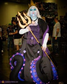 Abril: This Costume is handmade by me Abril Andrade Tentacles are made of Fabric , Crown and Trident are a combination of insulation foam board and Worbla. Dress is also handmade....