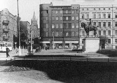 Bytom przed 75 laty Plac Cesarski (Obecnie pl. Sikorskiego) z pomnikiem Fryderyka Wielkiego Germany And Prussia, Old Photographs, Krakow, Dresden, Poland, Old Photos, Old Pictures