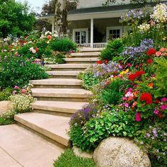 Garten Hang Gestalten Treppen Bauen Breit
