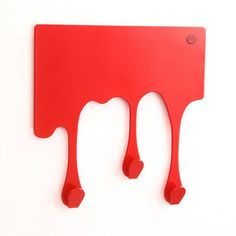 Key hooks (by the Mosaic Collection) Key Hooks, Wall Hooks, Design3000, Apt Ideas, Drip Painting, Red Walls, Home Reno, Paint Designs, Tech Accessories