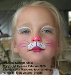 Cat Face Paint looks great on everyone Cat Face Painting within Bunny Face Paint