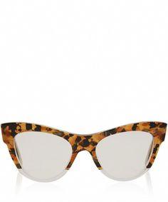 dd408c378a2b Miu Miu Brown Camouflage Cat Eye Glasses