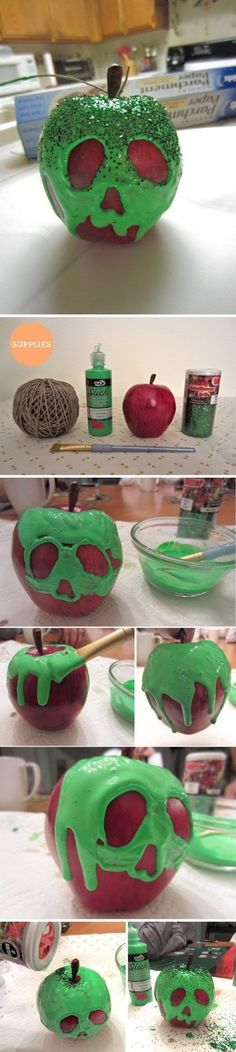 Dollar Store DIY Projects for Halloween DIY Snow White's Poison Apple from Fake Apples.DIY Snow White's Poison Apple from Fake Apples. Disney Halloween, Holidays Halloween, Fall Halloween, Halloween Crafts, Holiday Crafts, Holiday Fun, Happy Halloween, Halloween Party, Favorite Holiday