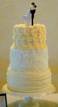 Rosette designed cake