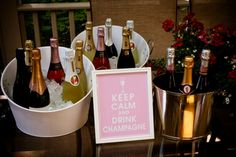 """""""Keep Calm and Drink Champagne"""" could either frame a print or I could cut out vinyl letters on my plotter"""