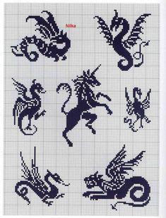 Много схем (драконы и панда объемная) | biser.info - всё о бисере и бисерном творчестве