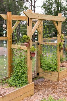 Potager Garden, Veg Garden, Vegetable Garden Design, Garden Trellis, Garden Yard Ideas, Garden Projects, Design Jardin, The Ranch, Dream Garden