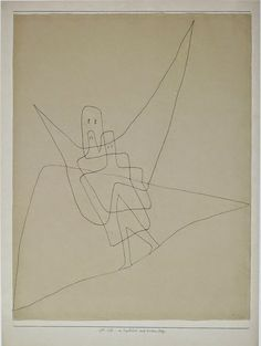 Paul Klee  1931  In Angel's Care on a Steep Path  Steven D. Foster ~ Photographs : The Departing Landscape website: The Angels - Part V - Commentaries