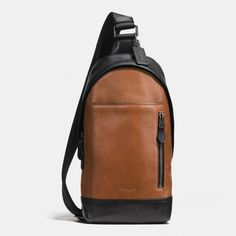 COACH Manhattan Sling Pack In Sport Calf Leather. #coach #bags #leather #hand bags #lining #